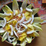 Witlof sinaasappel salade met gember dressing
